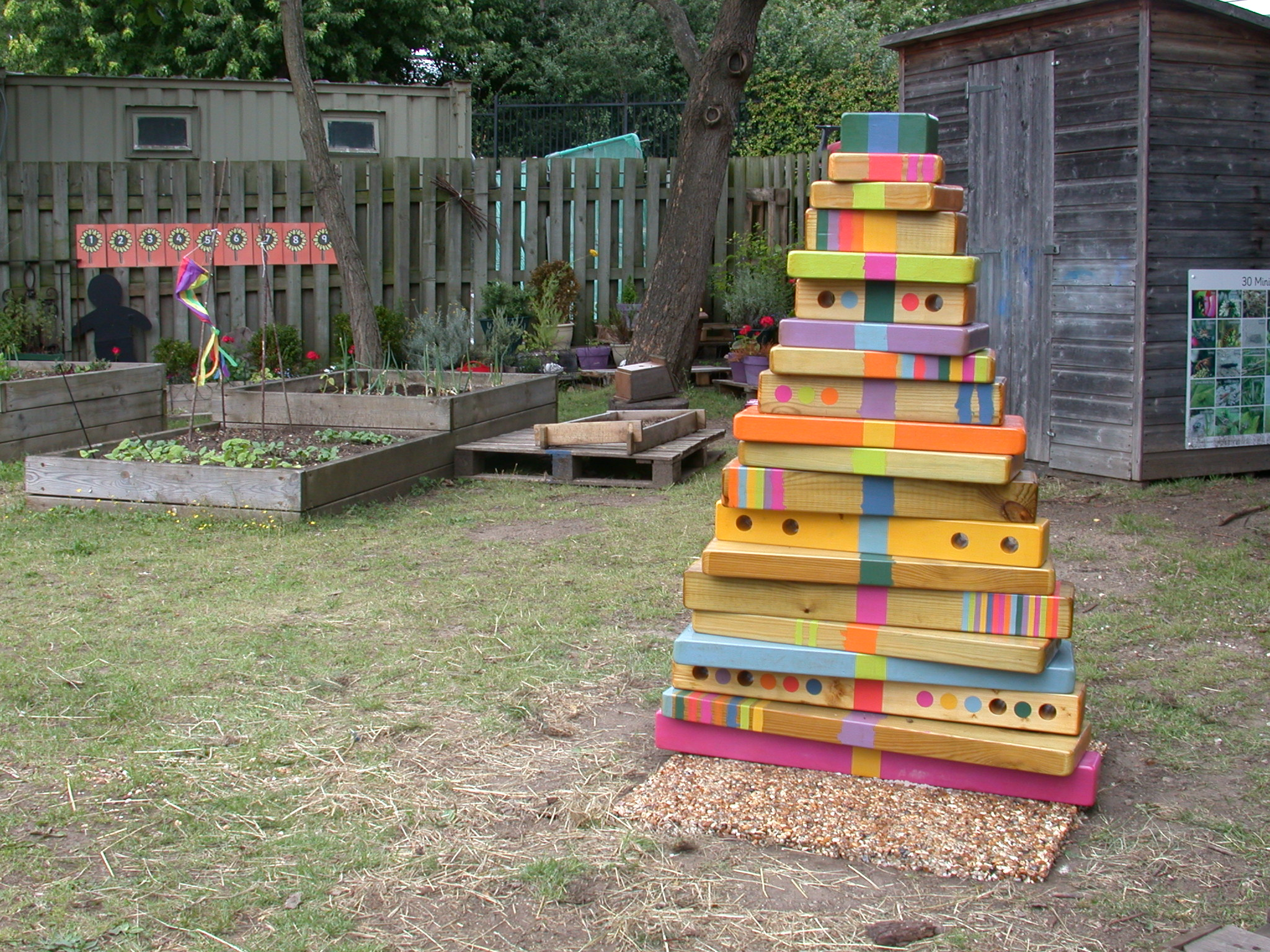 One of three Higgledy-Piggledy Trees (Bow Arts Isle of Dogs Consortium)